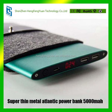 Buyer Leads Supliers Products5000mAh new products 2016 super thin metal atlantic power bank for smartphone