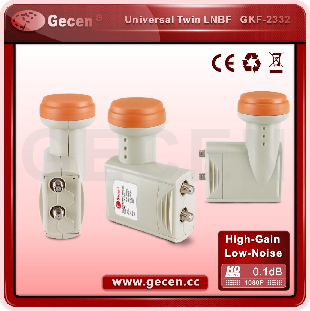 Gecen high gain satellite dish manufacture ku band prime focus twin lnb/lnbf