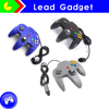black Game JoyPad Controller For Super 64 N64 System for android games for 2 players