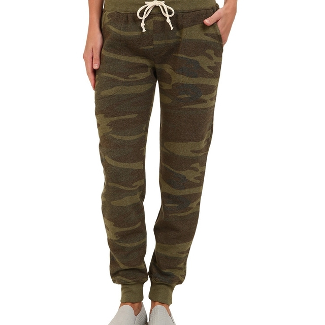 Men french terry jogger pants camouflage trousers cheap wholesale