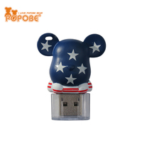 Unique Computer Promotional Gifts Popobe Bear Design USB Flash Drives