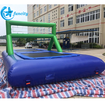 Hot-Welding Inflatable Water Volleyball Court,Inflatable Beach Volleyball Court For Sport Games