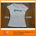 100% Cotton Latest Fashion Women Sleeve Fitted tshirt printing