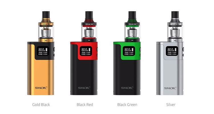 100% Original Wholesale EU/Standard Edition 0.6ohm dual core 2ml 80W SMOK G80 Kit with Spirals Tank