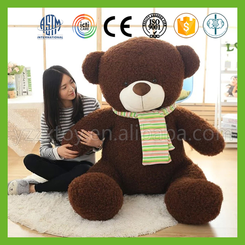 Wholesale good quality stuffed brown plush bear toy for 200cm