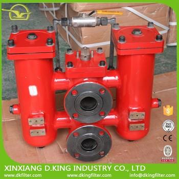 D.King custom oil filter DN80 duplex filter strainers to filtrate hydraulic oil