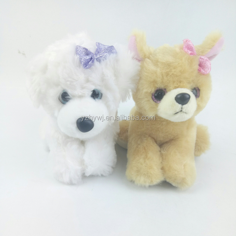 cute soft white brown best made toys plush toy dog stuffed animal