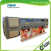 3.3m 4 color advertising materials print machine with 4 head seiko spt510 large format solvent printer
