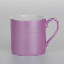 New Design electroplating drinking cup, solid color pink coffee mugs 450ml