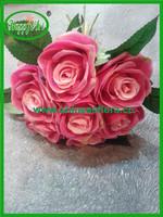 7 heads rose flower artificial flower rose bush
