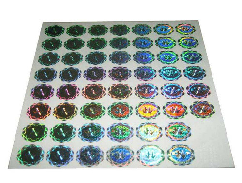 Anti-counterfeit holographic private label cosmetics, hologram label for cosmetics