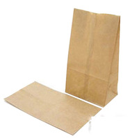 Envoirnmental holding kraft paper bag with logo print for food packing promotional shopping