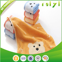 Professional OEM 100% Cotton Hand Towel With Bright Color And Cut Bear Picture