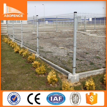 V type welded 3d playground metal fence