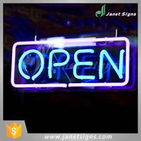 Customized Color open advertising neon light Edge Lit Sign for bar home