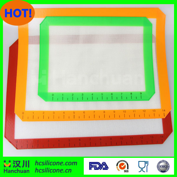 silicon baking mat with measurement,silicon baking mat with ruler,silicone baking mat