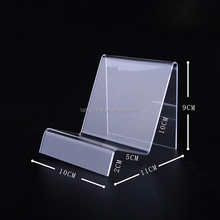 China clear acrylic handbag display riser rack stands