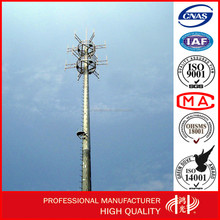Galvanized Self-support Mobile Signal Pole GSM Monopole Tower