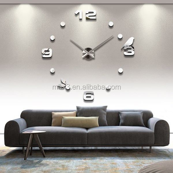 Large decorative mechanical wall clock battery operated calendar clock