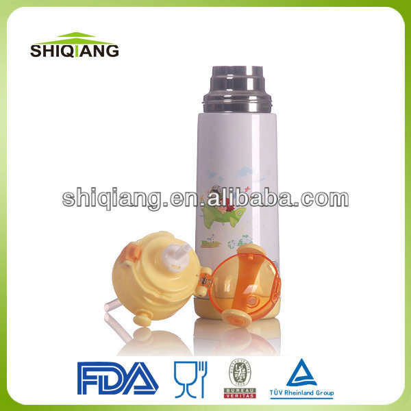 600ml 304 inner 201 outer stainless steel vacuum children termos BPA free