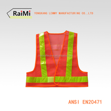 EN20471 Class2 PVC led Running Vest Flash led Light Mesh Safety Vest High Visibility Reflective Vest