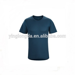 New men Dry Quick Gradient color Tights Sport t Shirts