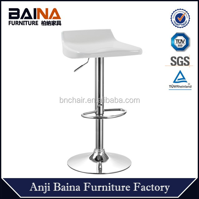 Hydraulic bar stool cheap abs plastic style 360 degree swivel chair BN-3012