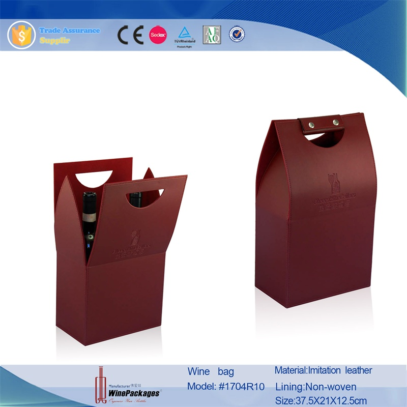 Hot selling High quality kraft paper bag for wine eco-friendly wine carrier gift bags