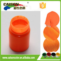 Fluorescent orange water based textile pigment inks