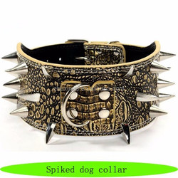 Pitbull spiked leather dog collar, german shepherd dogs for sale dog collar