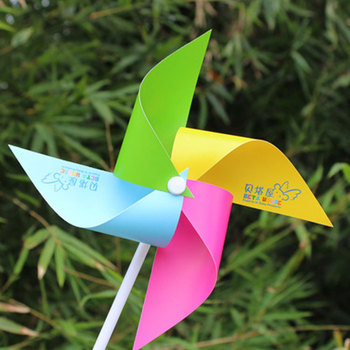 Worth Buying Personalized PVC Garden Decoration Kids Plastic Windmill
