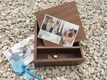 Sliding Lid Pine Wooden Photo USB Packaging Storage Gift Box for Size 4x6inch,5x7inches and 8x10inch