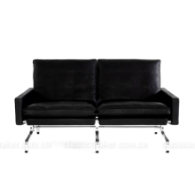reasonable price supply leather 2 seater pk31 sofa modern