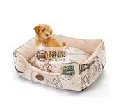 2016 best selling luxury square dog bed/China manufacturer pet bed/dog house