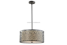 2016 Wrought Iron Fabric Material Pendant Lamp Metal Vintage Lamp for coffee shop