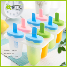 Wholesale Creative Homemade Custom Food Grade Plastic Ice Popsicle Mold, plastic ice cream molds
