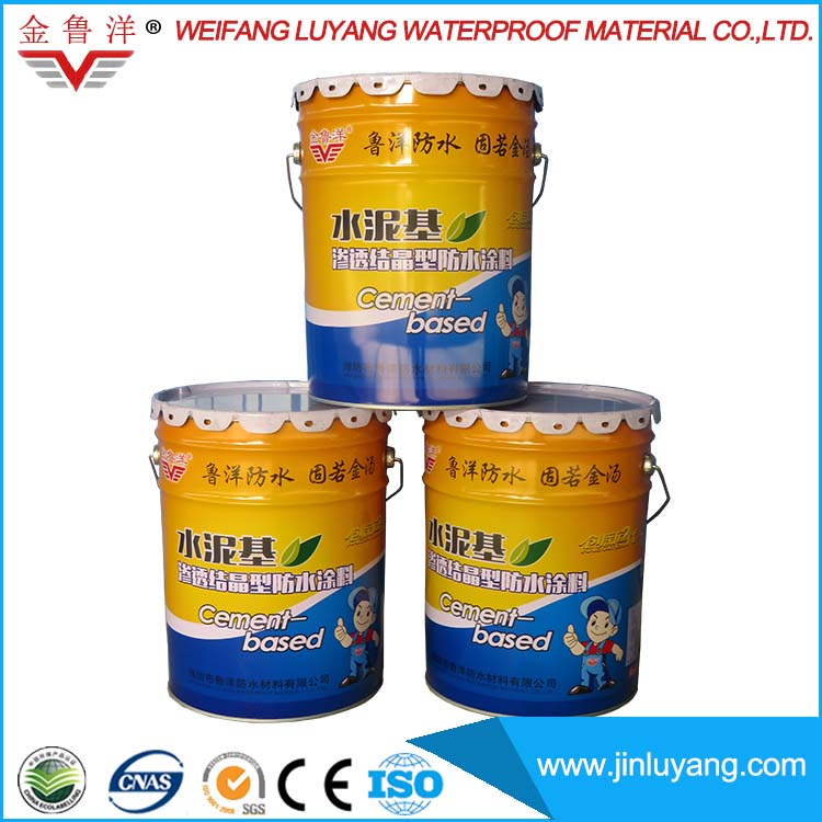 Cementitious Capillary Crystalline CCCW Waterproof Coating