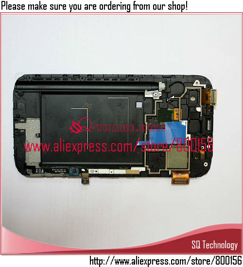 for Samsung for Galaxy Note 2 N7100 LCD Touch Screen, N7100 Display China, for Samsung N7100 LCD Screen
