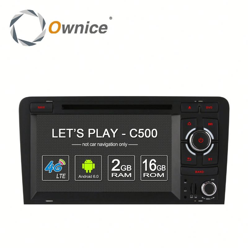 Factory price Ownice android 6.0 quad core Car Multimeda Navigation system for Audi A3 S3 with 4G built in wifi