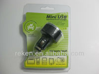 portable mini dual USB Car charger with 5v 2.1A output