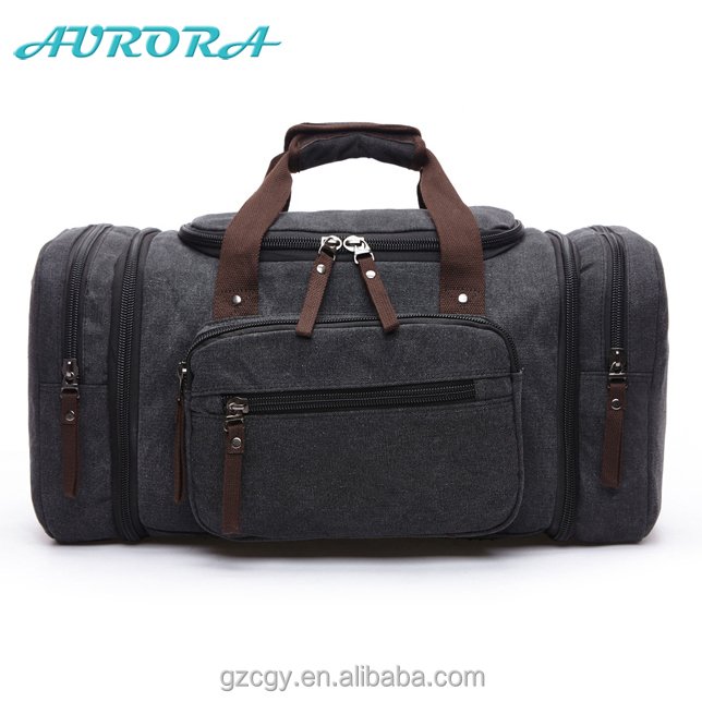 Guangzhou huadu factory canvas sports bag one day travel bag