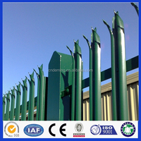 Hot dipped galvanized PVC coated palisade fence