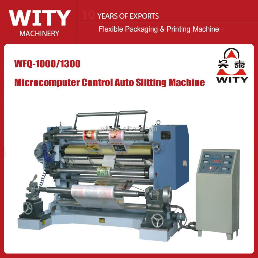 Verical Type Plastic film Slitting Machine