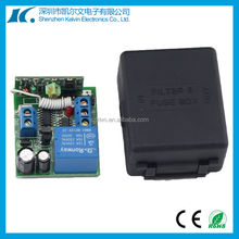 Easy installing DC12V 433.92/315mhz learning code 1 channel remote switch with black case KL-K103X