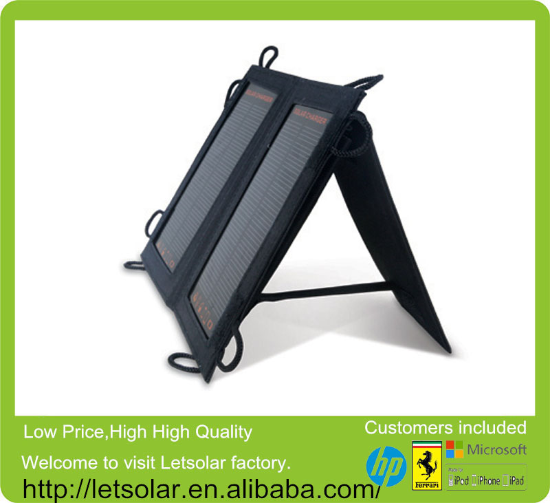 2014 new backpack flat roof solar panels mount for home use for iPhone and iPad directly under the sunshine