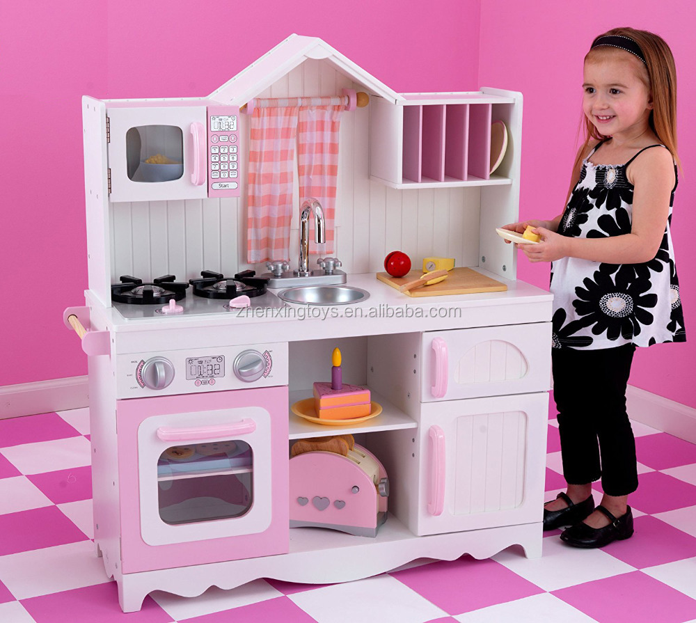 EN certificated wooden children kitchen play set toy