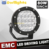 Super Bright automobile parts 4x4 4WD 80w LED Driving Light Waterproof spot 5 Inch 80W LED Work Light
