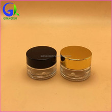 Glass Body Material and Skin Care Cream Use empty glass jars