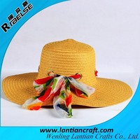 fashion decoration lady hats wholesale custom paper straw hat