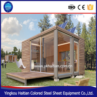 Waterproof log cabins prefab house,luxury wooden house prefabricated villa design